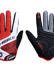 Glove Cycling / Bike All / Men's Full-finger Gloves Breathable / Anti-skidding / Wearproof / Shockproof Spring / AutumnWhite / Red /