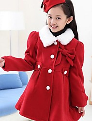 Girl's Wool Jacket & Coat , Winter Long Sleeve