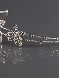 Women's Alloy Rhinestone Silvering Headbands