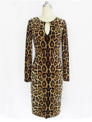 leopardo impreso vestido bodycon dolce de la mujer