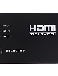 neue 3 Ports HDMI-Audio-Video-Switch Umschalter Splitter Verstärker 1080p Remote-Box