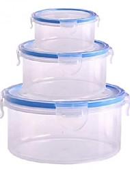пластик вокруг четкими набор из 3 15.5x15.5x8cm