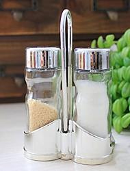 garrafas de vidro cozinha tempero conjunto de 2,8x4x12.5cm