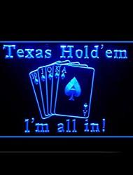 провести Техас реклама покер привело свет знак, 110-120v