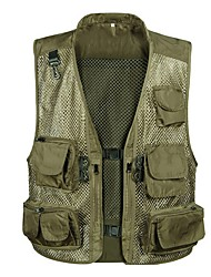 Fashuai Muti-porket Gridding Waistcoat Vest for Outdoor Photographer Director [XXL]