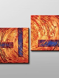 Hand Painted Modern Abstract  Oil Painting with Stretched Frame Set of 2