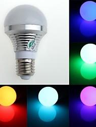 rgb licht LED lamp met afstandsbediening - wit zilver (AC85 ~ 265V) 150lm 3w e27
