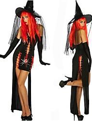 charmant et étrange araignée sorcière tergal noir costume de hallewoon