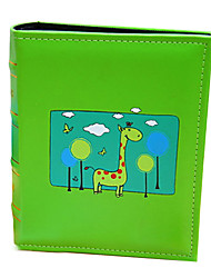 Upscale Leather Cloak Design of Green Deerlet Insert Ablum for Grown of Baby