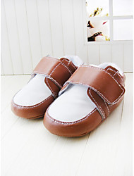 Boy's Flats Spring / Fall / Winter First Walkers / Crib Shoes Leatherette Party & Evening Flat Heel Magic Tape Brown