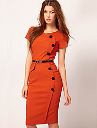 Monta Western Styles Fashion Slim Fit Over Hip Dress With Button