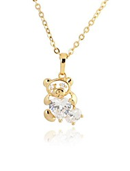 Women's  Fashion Little Bear Design 18K Gold Plated Necklace