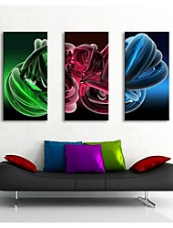 Personalized Canvas Print  Stretched Canvas Art Color Curves   30x 60cm   40x80cm  50x100cm Gallery Wrapped Art  Set of 3
