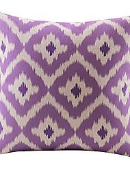 violet coton losange / lin taie d'oreiller décoratif
