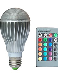 Globe Bulbs , E26/E27 10 W 1 High Power LED LM RGB V