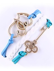 (1 Pc)Sweet 5.4cm Women's  Love Alloy Chain & Link Bracelet