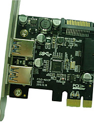 Reallink® PCI Express Card with 2 USB3.0 Ports,Support Windows XP / Vista / Windows7 (32/64 bit)/Windows8 (32/64 bit).
