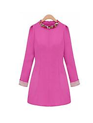 diamonade decote vestido de manga 3/4 PDL mulheres