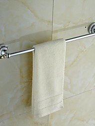 Ceramic Brass Chrome Finish Towel Bar