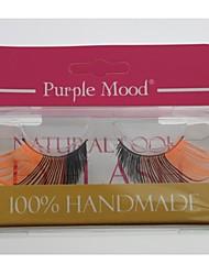 1 par cabelo de fibra sintética de alta qualidade pro lado fez várias cores preto e laranja cílios postiços cfe472 #