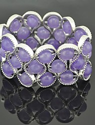 antique silver braclet cordão roxo toonykelly® das mulheres do vintage (roxo) (1 pc)