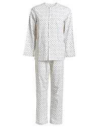 Medical Uniforms Single-Breasted Buttons Scoop Twill Patient Pajamas