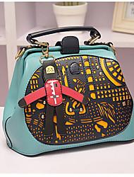 bonito saco crossbody desenhos animados das mulheres mandy (verde claro)