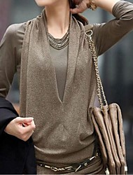 Women's Black/Brown/Beige Blouse Long Sleeve