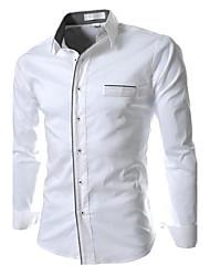 Men's Long Sleeve Shirt , Others Work/Formal