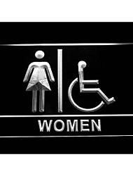 i1025 handicapés handicap en fauteuil roulant les femmes accessibles toilettes WC enseigne au néon
