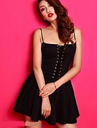 juanmei nouveau 2014 womens sexy robe vintage gallus de bulle taille haute avec un liant du sein