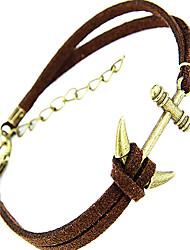 moda pouco escora forma pulseira de couro charme dos homens (1 pc)