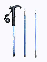 4 Sections 6061 Aluminum Curved Handle Climbing Stick
