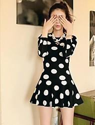 Women's Casual Dress Knee-length Cotton