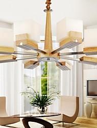 pingente de carvalho lâmpada, oito luzes, carvalho e vidro, 220 ~ 240V (hy9028)
