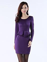 la nouvelle robe de l'automne ol des femmes Xinfu ™ cultiver sa robe falbala de taille de robe de moralité