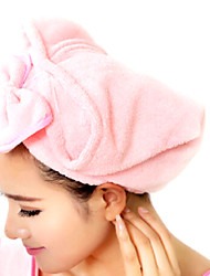 Cute Bow Hat Super Absorbent Hair Drying Cap