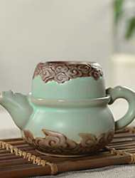 Chinese  Cloudy Embossed Porcelain Tea Set,1 pc Teapot,1 pc Tea Cup