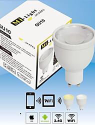 New 2.4G 4 Group GU10 4W Color Temperature / Brightness Adjustable LED Spotlight Wifi Bulbs Light