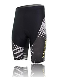 XINTOWN Unisex The High Quality Terylene Cushion Cycling Shorts—Black+White