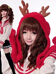Lovely Deer Brown Two Curly Matching Sweet Lolita Wig