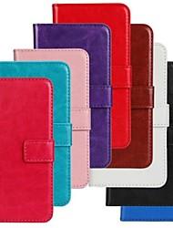 Pour Coque Motorola Porte Carte Portefeuille Avec Support Clapet Coque Coque Intégrale Coque Couleur Pleine Dur Cuir PU pour Motorola