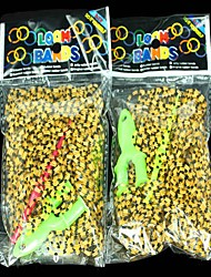 7200pcs Leopard-print Rubber Bands Rainbow Color Loom Style Fashion Loom