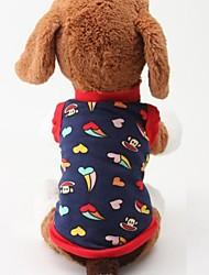 populaire design cartoon confortable de coton t-shir pour dogst pour animaux de compagnie (taille assortis)