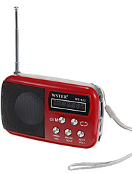 WS-822 AUX Audio Input High Sensitive FM Stereo Radio Speaker