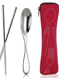 холст портативный палочками ложка Столовые приборы случайных цвет, 18x3.4x4cm
