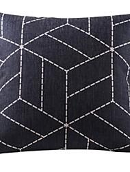 algodão geométrica preto / capa de travesseiro decorativo linho