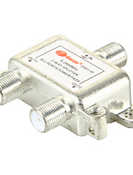 2-weg satelliet-tv-antenne coaxiale power splitter zilverachtige