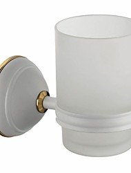 Painting Finish Wall-mounted Double Bathroom Accessories Solid Brass Tumbler Holder