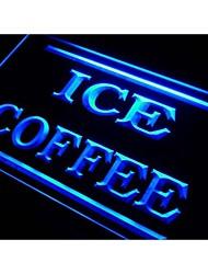 I423 hielo cafetería signo luz de neón